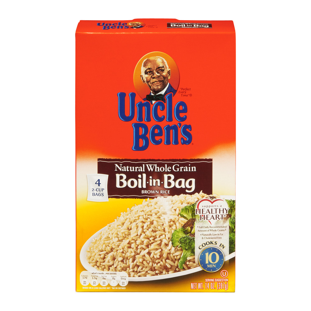 Uncle Ben's Natural Whole Grain Boil-in-Bag Brown Rice, 14.0 OZ