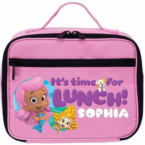 Personalized Bubble Guppies Guppy Girls Pink Kids Lunch Box