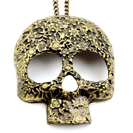 Fashion Jewelry Women Sugar Skull Head Pendant Necklace