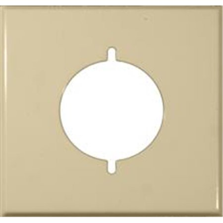 Stainless Steel Metal Wall Plates 2 Gang Metal Range And Dryer Cover Ivory - image 1 of 1