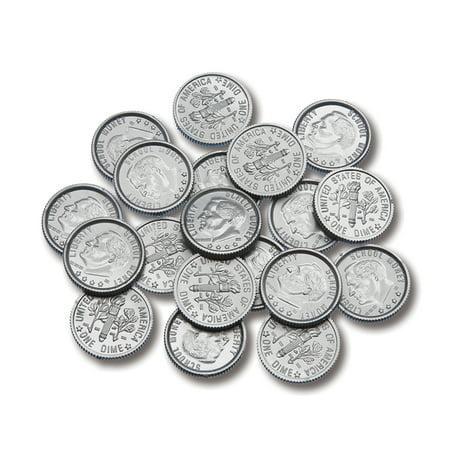 PLASTIC COINS 100 DIMES