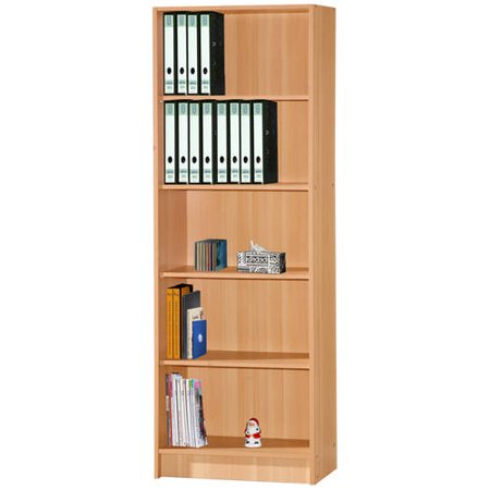5 SHELF BOOKCASE - BEECH (Beech Beechwood Shelf)