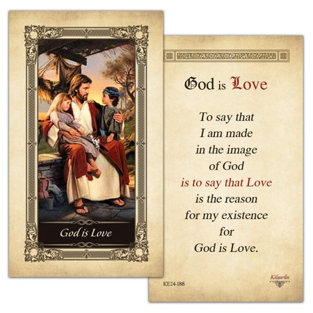 God is Love Laminated Prayer Card