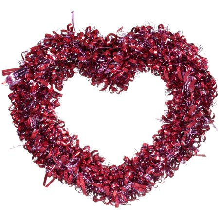 Heart Shaped Valentine's Day Tinsel Wreath Decoration (Valentine's Day Spongebob)