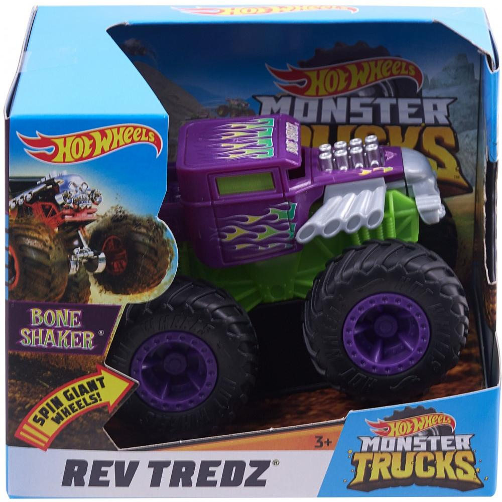 Hot Wheels Monster Trucks Rev Tredz Bone Shaker Vehicle by Mattel