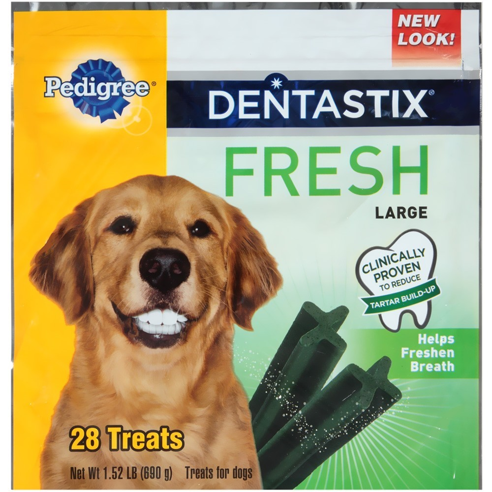 Pedigree Dentastix Fresh Oral Care Treats for Dogs, Large, 1.52 Lb