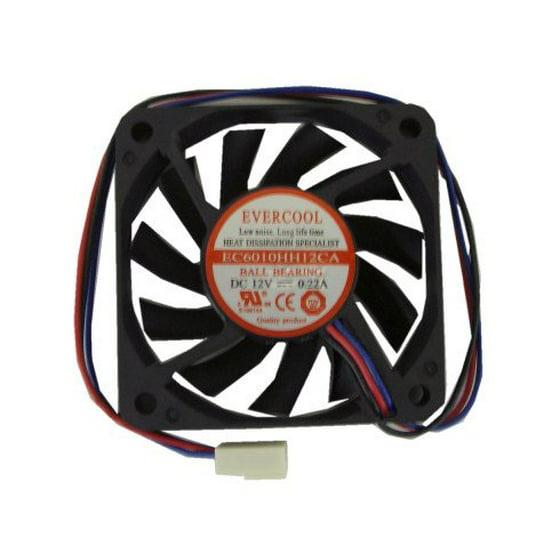 Evercool 60 x 60 x 10mm High-Speed Fan 3pin, EC6010HH12CA
