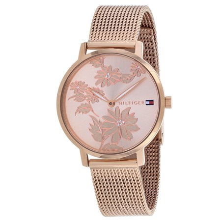 Tommy Hilfiger Rose Gold-Tone Mesh Ladies Watch 1781922 (White Watch Tommy Hilfiger)