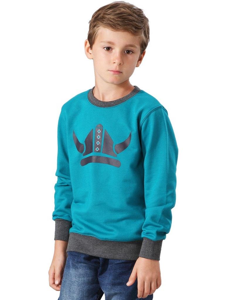 Leo&Lily Big Boys' Casual Long Sleeve Viking Printing Hoodie Sweatshirts
