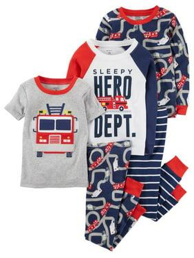 Carter's Baby Toddler Boy Tight Fit Pajamas, 5pc Set