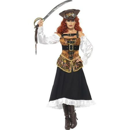 Steampunk Pirate Wench Adult Costume Medium (High Seas Pirate Wench Costume)