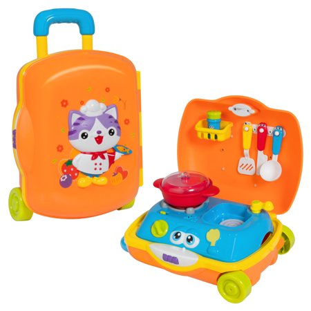 best choice products kids cooking toy kitchen pretend playset