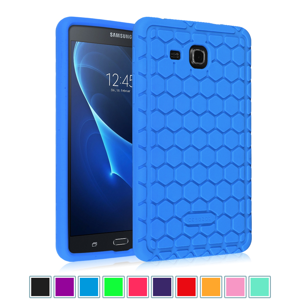 "For Samsung Galaxy Tab A 7.0"" Tablet Silicone Case - Lightweight [Anti Slip] Shock Proof Cover Kids Friendly, Blue"