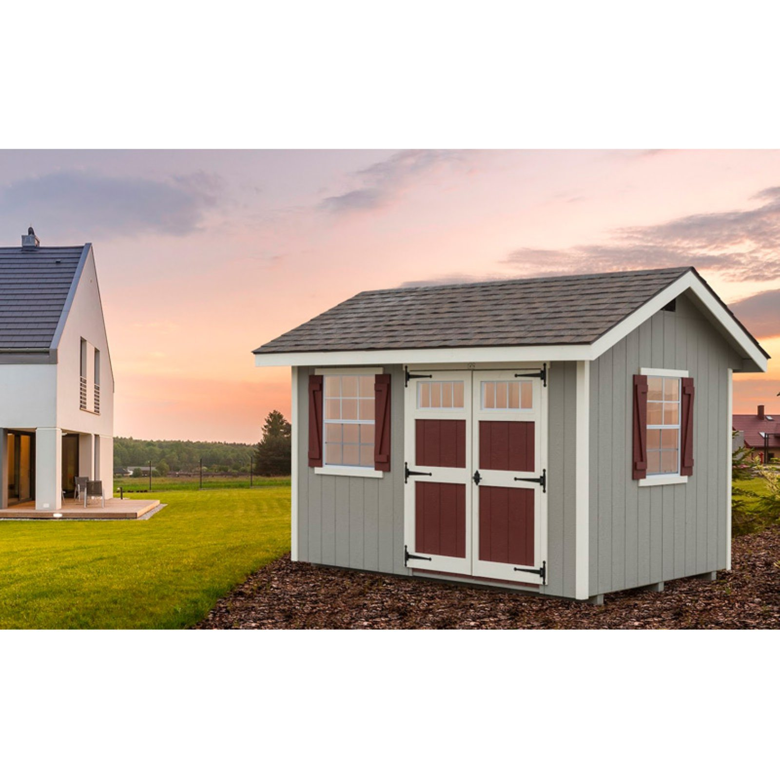 Alpine Structures EZ Fit Heritage 8 x 12 ft  Storage Shed with Optional  Floor