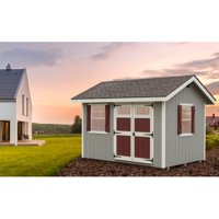 Alpine Structures EZ Fit Heritage 8 x 12 ft. Storage Shed with Optional Floor