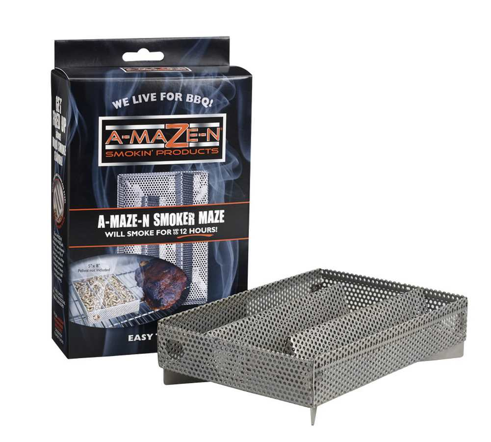 A-MAZE-N Products 5x8 Pellet Smoker, Can Be Used On Any Grill - AMNPS5X8