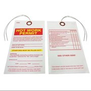 BADGER TAG & LABEL CORP 123 HotWorkPermtTag, 2-7/8inW, 3/16inHole, PK25