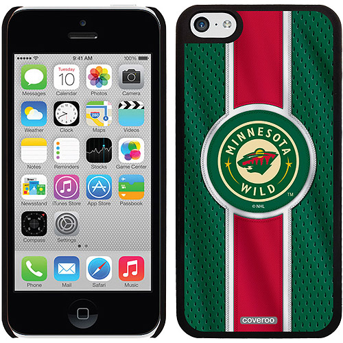 Minnesota Wild Jersey Stripe Design on iPhone 5c Thinshield Snap-On Case by Coveroo