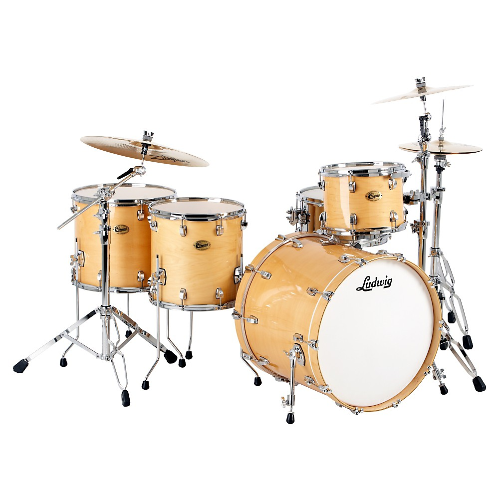 Ludwig Centennial Dragster 4-Piece Shell Pack Natural by Ludwig