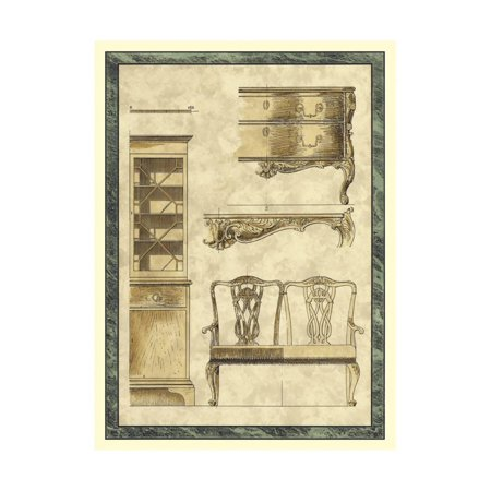 Chippendale Furniture I Print Wall Art By Vision Studio