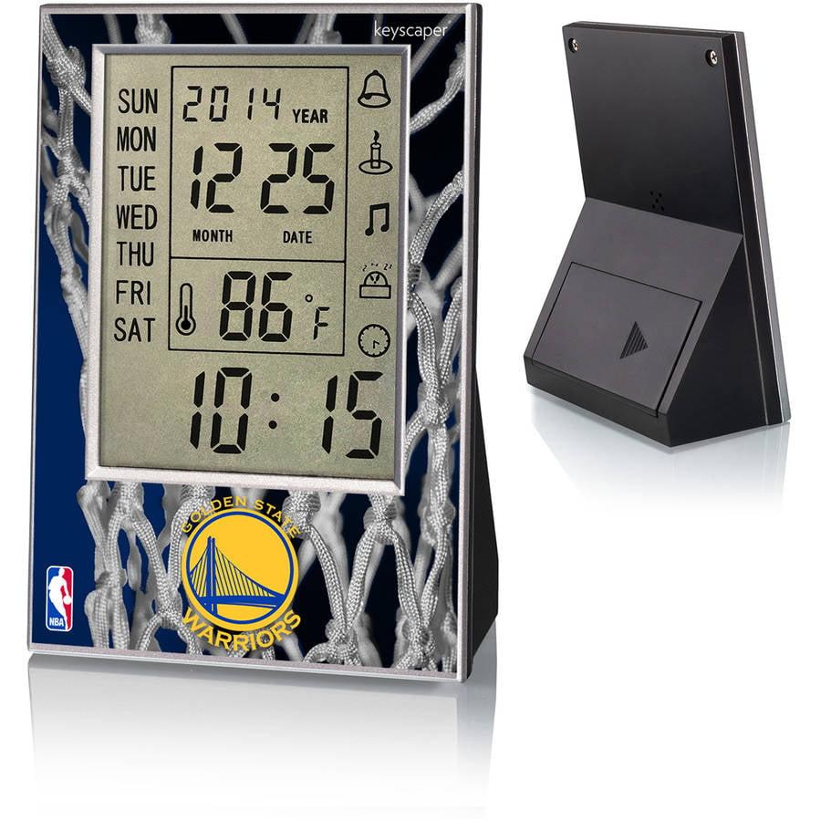 Golden State Warriors Net Design Digital Clock by Keyscaper