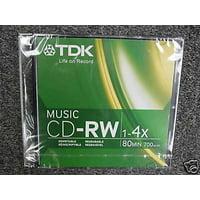 TDK CDRW80TWN 80 Minute Music/ Consumer Use CD-RW *(Single)