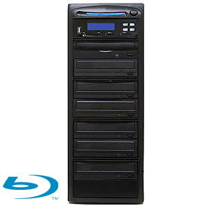 SySTOR 1:6 Blu-ray BDXL Disc Duplicator + USB/SD/CF to Disc Backup Copier Tower