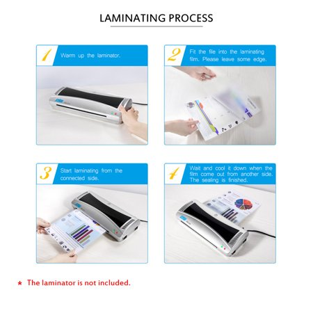 "DSB 80mic 3"" Laminating Film Clear Sheet EVA Bond for Photo Paper Laminating Home Studio Office Supply100 Sheets - image 5 de 7"