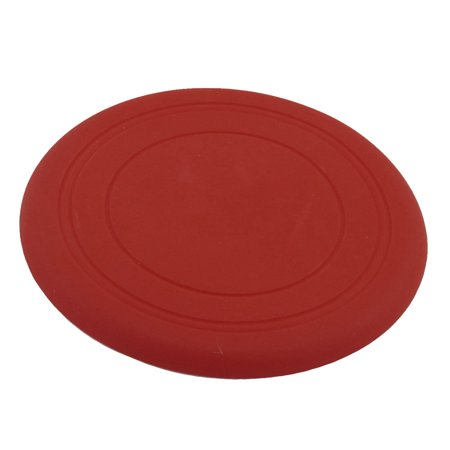 """Pet Dog Training Red Silicone Flyer Disc Frisbee Toy 6.7"""" Diameter"""