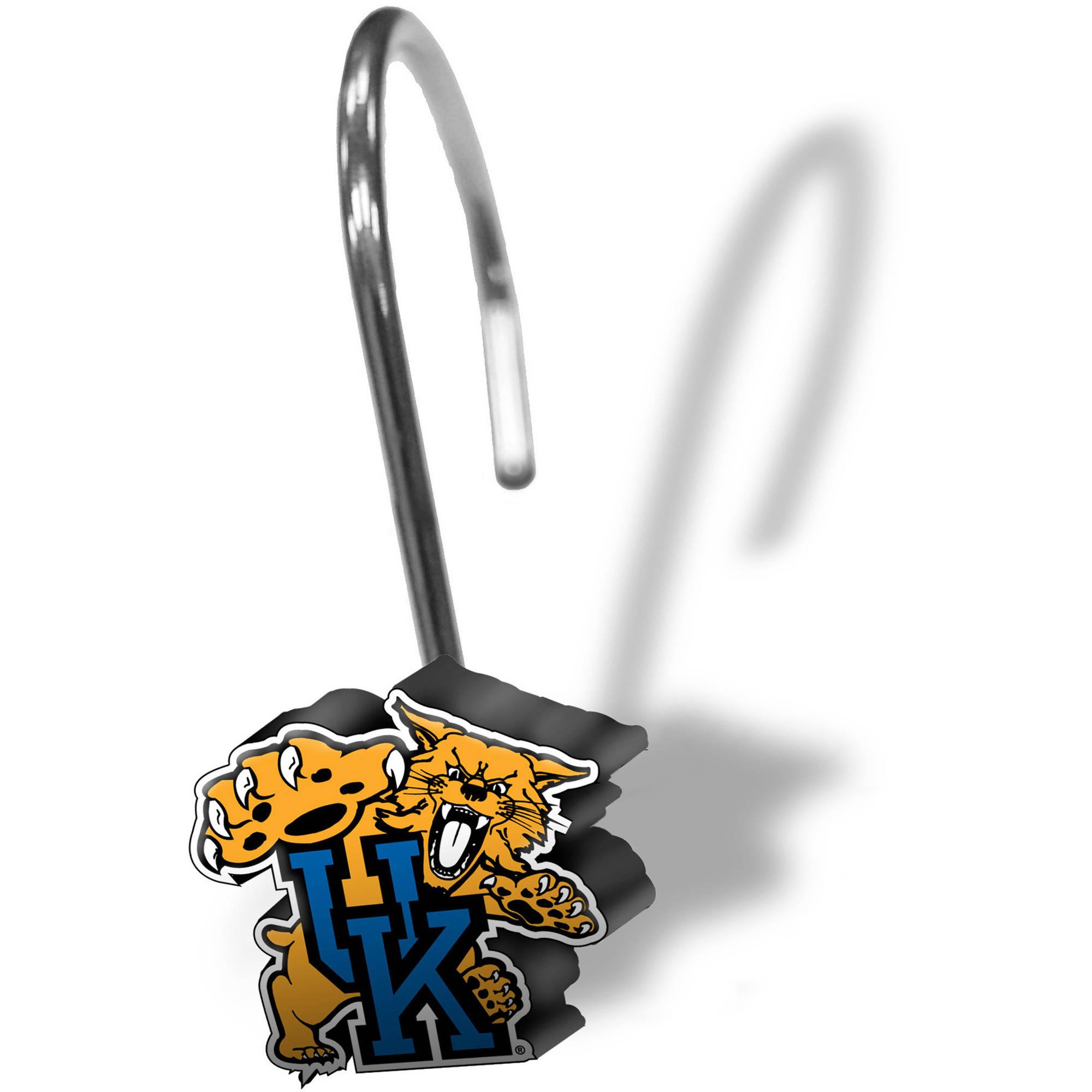 NCAA University of Kentucky Decorative Bath Collection - 12pc Shower Hooks
