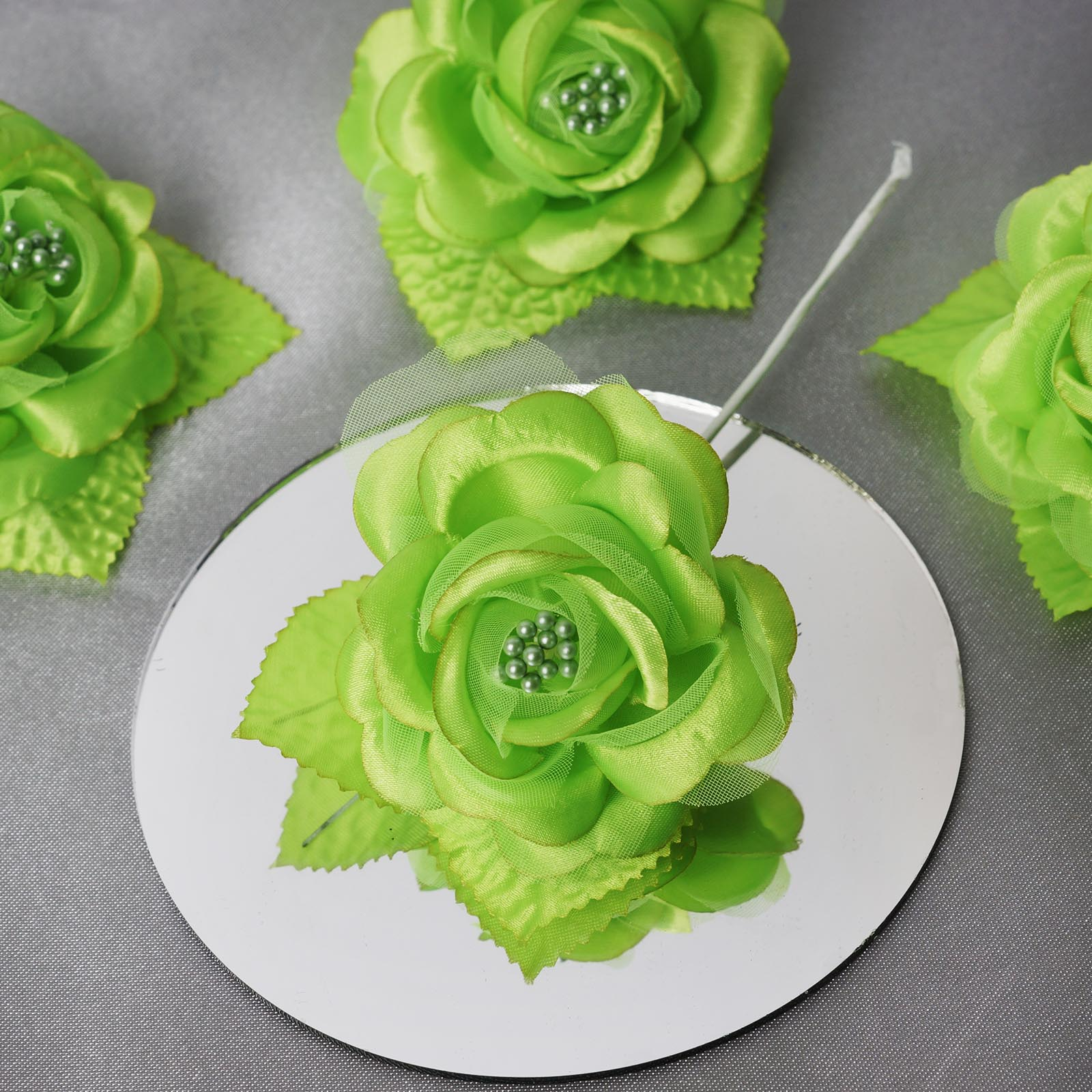 BalsaCircle 12 Open Roses Craft Flowers - Mini Flowers for DIY Wedding Party Favors Decorations Supplies