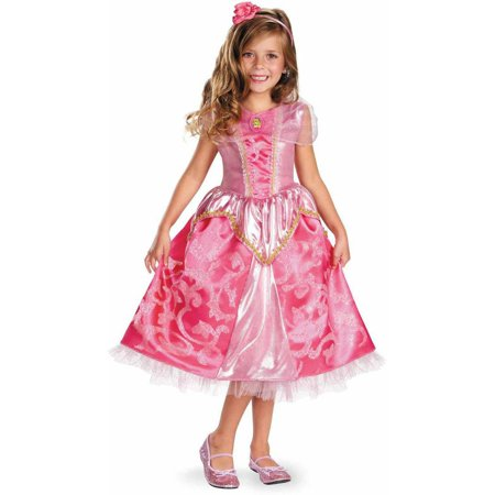 Disney Aurora Deluxe Sparkle Girls' Child Halloween Costume - Disney Costumes Girls