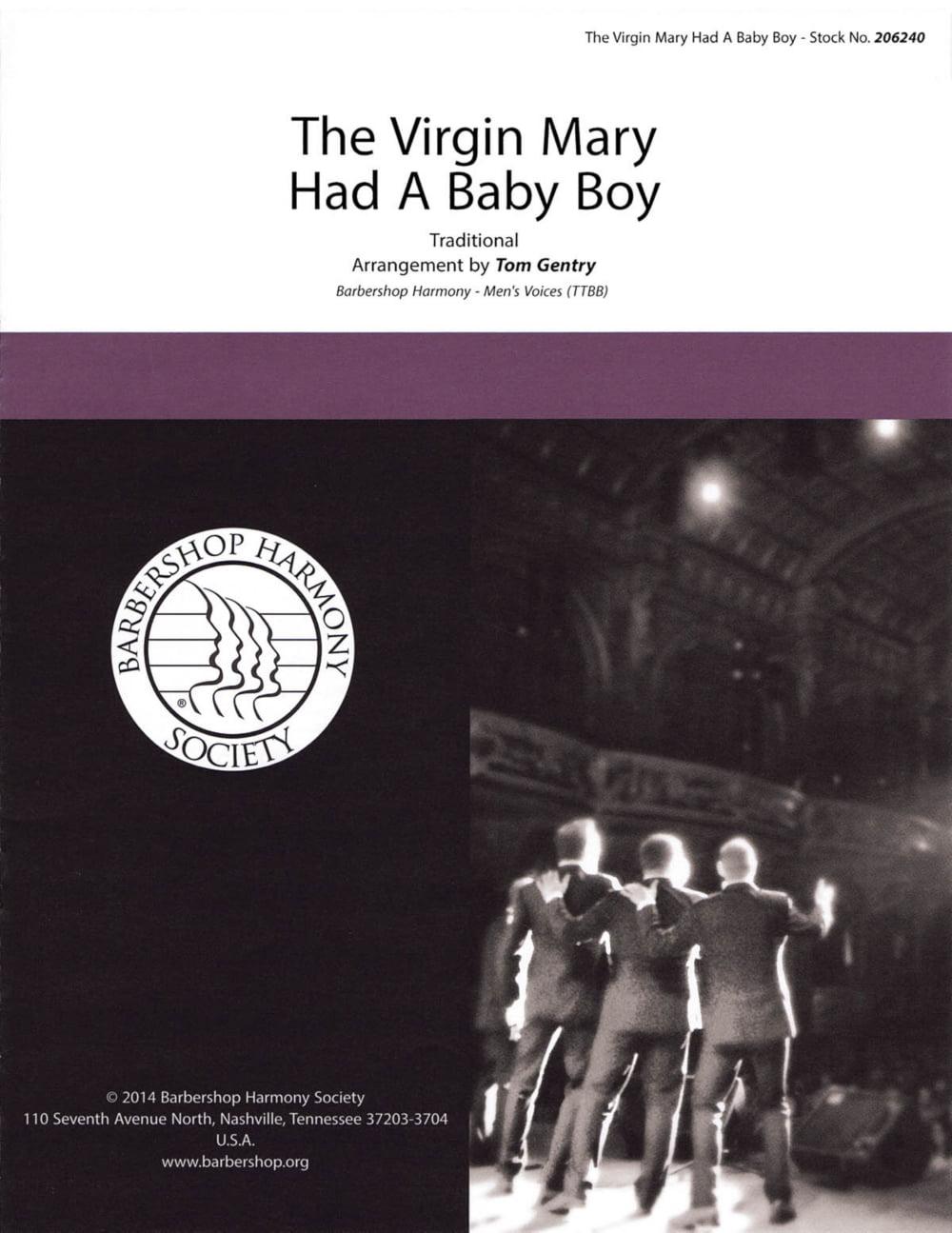 Hal Leonard The Virgin Mary had a Baby Boy TTBB A Cappella arranged by Tom Gentry by