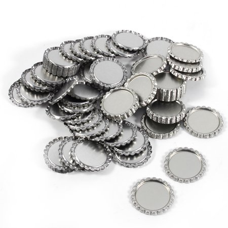 Sonew 100pcs Flat 1  Silver Color Tinplate Bottle Caps Lids Cover without Hole, Bottle Cork, Seal - image 6 of 7