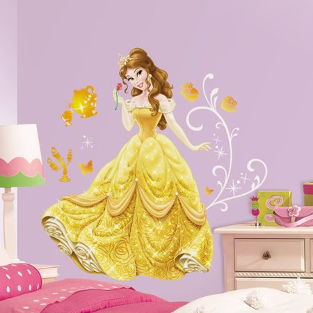 Room Mates Disney Princess Belle Giant Wall Decal - Walmart.com