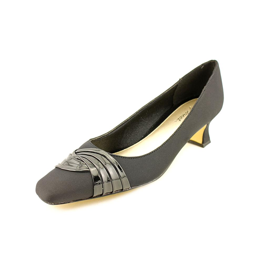 Easy Street Tidal Square Toe Canvas Heels by Easy Street