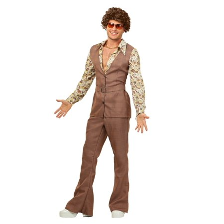 Men's Plus Size 70's Vest Costume - Plus Size 70s Costumes