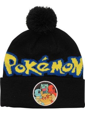 b54597334b4e82 Product Image Pokemon Group Circle Cuffed Pom Beanie