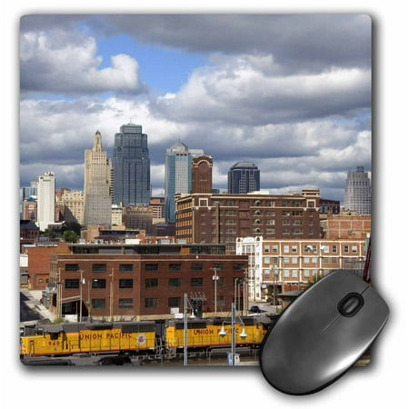 3dRose Union Station at Kansas City, Missouri - US26 DFR0134 - David R. Frazier, Mouse Pad, 8 by 8 inches