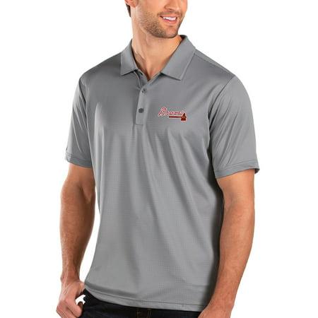 Atlanta Braves Antigua Balance Polo - Gray ()