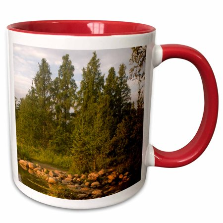 3dRose USA, Minnesota, Itasca State Park, Mississippi Headwaters - Two Tone Red Mug,