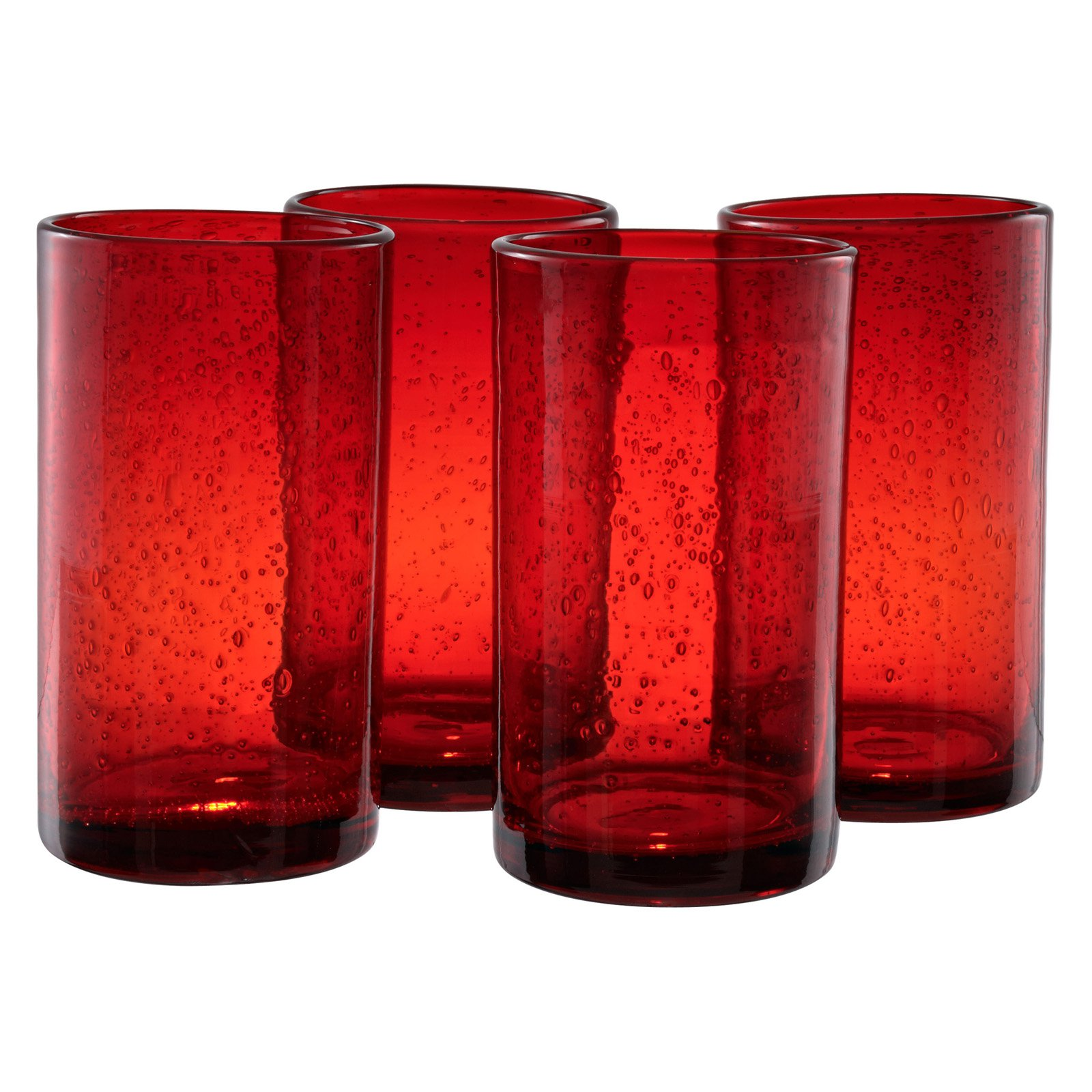 Artland Inc. Iris Ruby HiBall Glasses - Set of 4