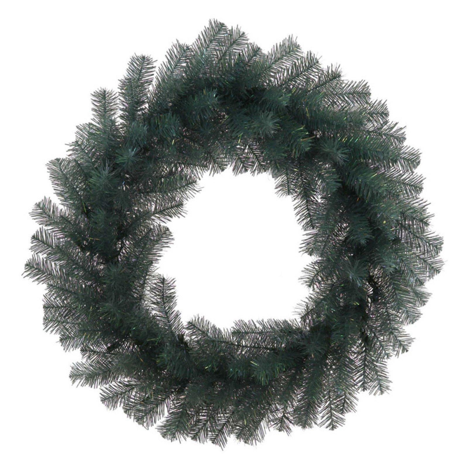 "Vickerman Unlit 24"" Blue Crystal Artificial Wreath featuring 150 PVC Tips"