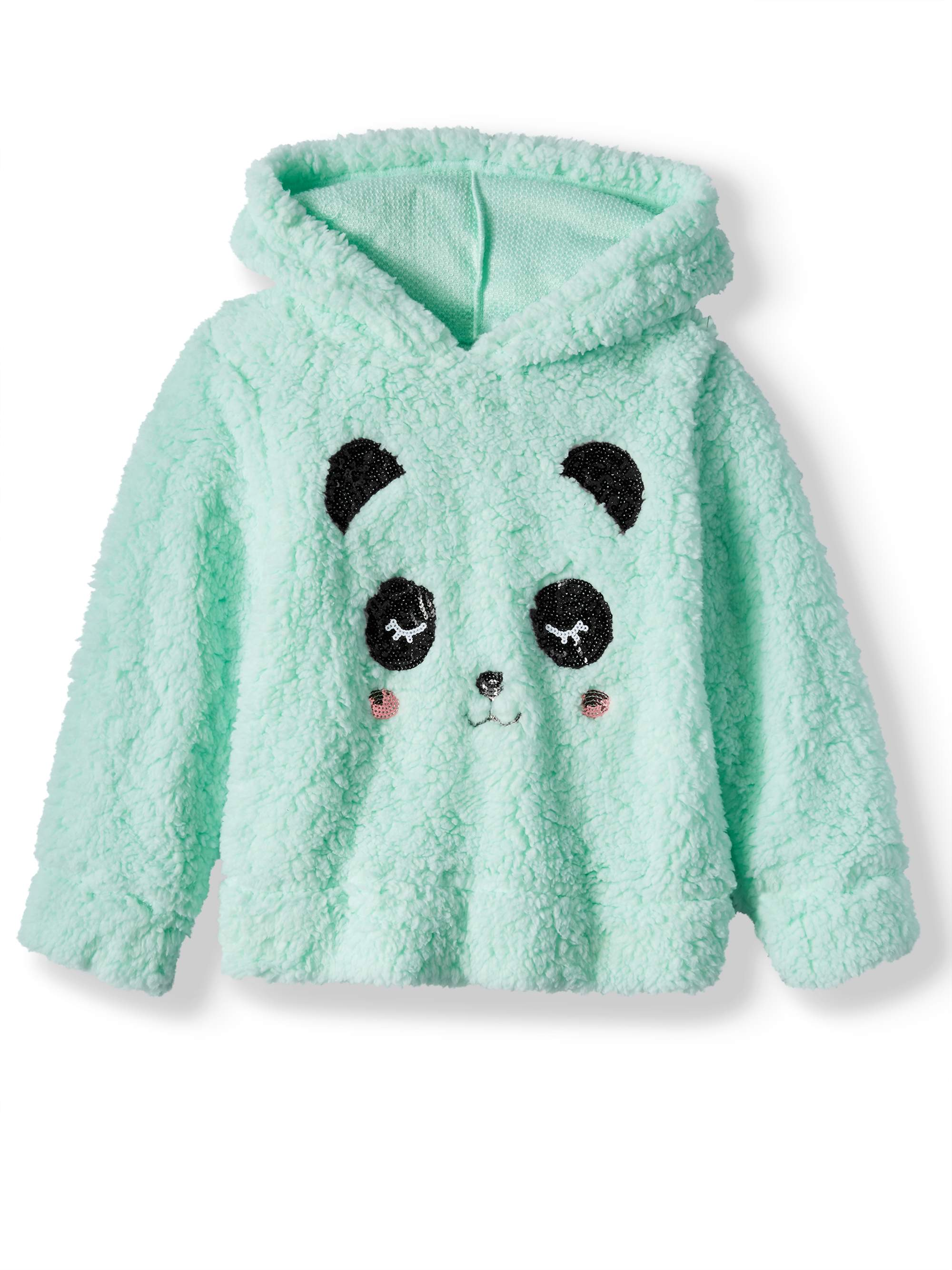 Miss Chievous Sequin Critter Plush Sherpa Hoodie (Little Girls & Big Girls)