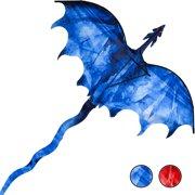 """GEX 54"""" Ice Dragon Huge Kite for Kids and Adults Easy to Fly Single Line String with Tail for Beach Trip Park Family Outdoor Games and Activities"""
