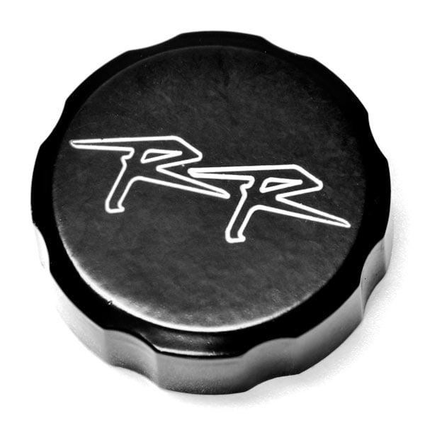 Krator Front Brake Fluid Cap Black Billet Reservoir Cap For 2006-2009 Honda CBR 1000RR