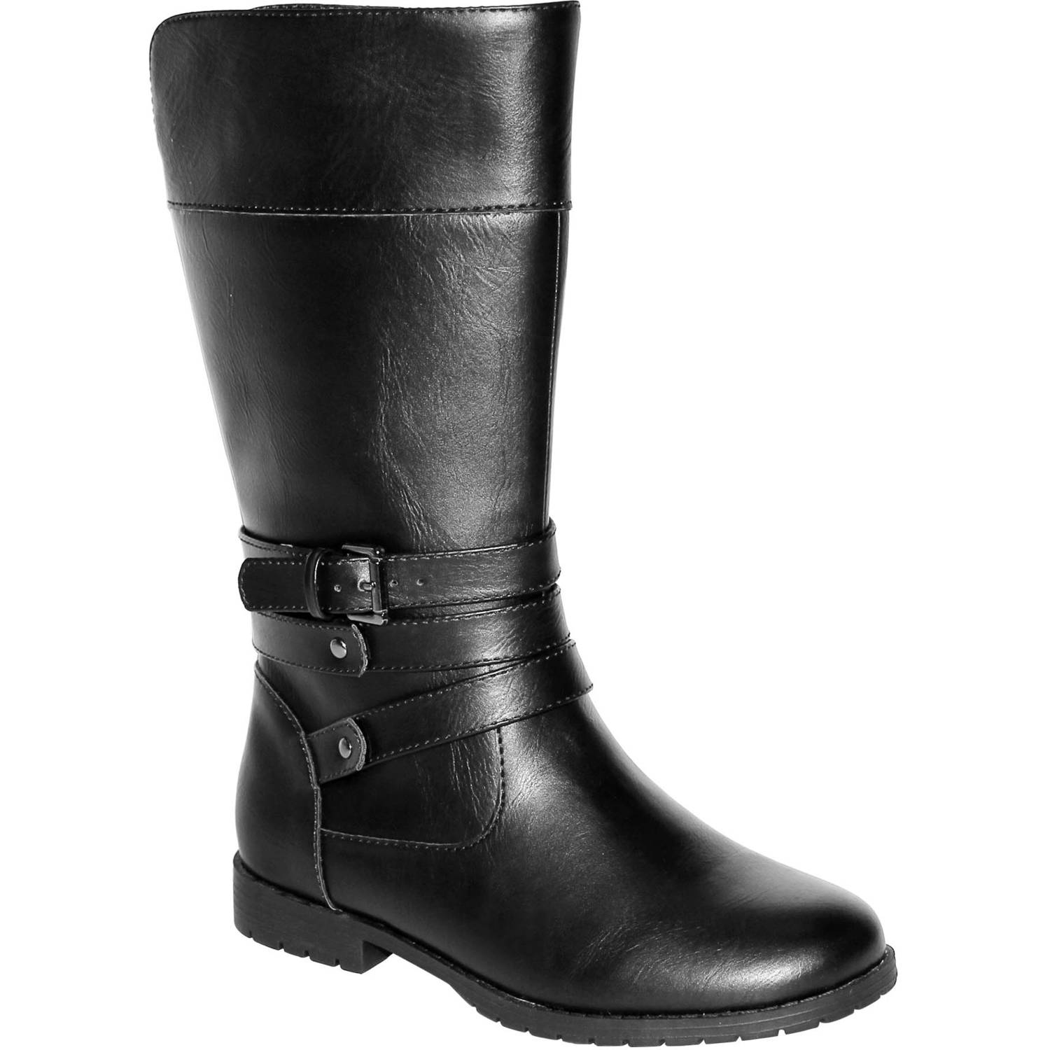 Faded Glory Girls' Classic Pull on Riding Boot - Walmart.com
