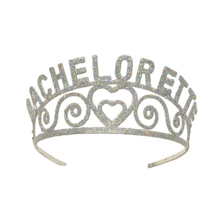 Bachelorette Glittered Metal Tiara