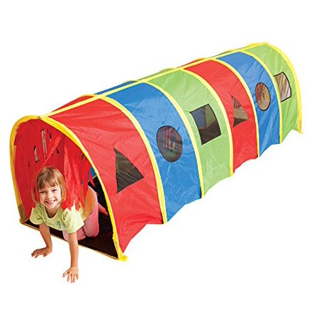 Giant 9' Tunnel (Pacific Play Tents Kids Tickle Me 9 Foot Geo-D Crawl Tunnel)
