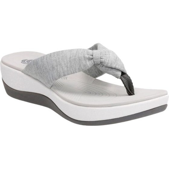 5930084ab Part of the Clarks Cloudsteppers Collection Clarks Cushion Soft comfort  technology EVA midsole Textile lining. Women s Clarks Arla Glison Thong  Sandal